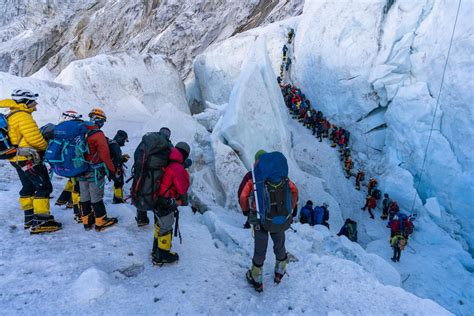 Traffic jams are just one of the problems facing climbers