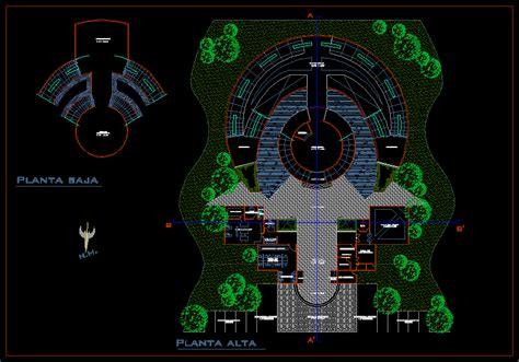 Museum - plant in AutoCAD | Download CAD free (96