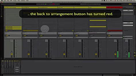 back to arrangement button in ableton live 8 - YouTube
