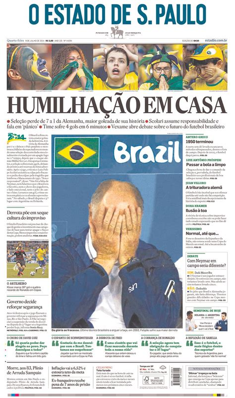 These 10 Front Pages Of Brazilian Newspapers Show The