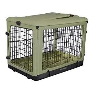 Pet Gear The Other Door Steel Crate with Plush Pad, Large
